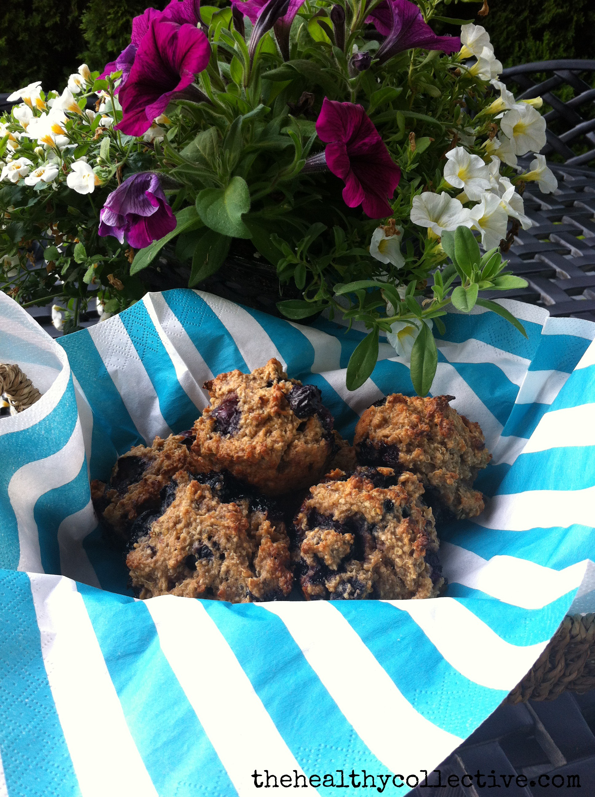strawberry banana quinoa oatmeal muffins gluten free